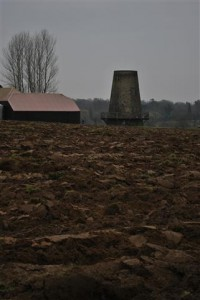 windmill and ploughed land at nutbourne