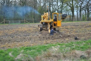laying land drains at Kingscote
